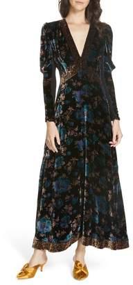 Rebecca Taylor Solstice Velvet Maxi Dress