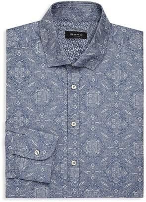 Sand Men's Paisley Print Dress Shirt
