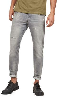 G Star Raw 3301 Distressed Slim-Fit Jeans