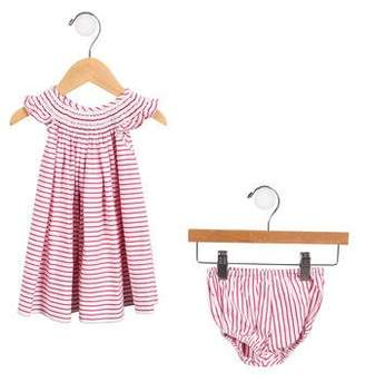 Baby CZ Girls' Striped A-Line Set