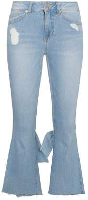 Sjyp cropped kick flare jeans