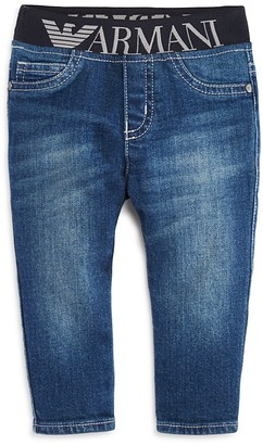 Armani Junior Boys' Logo Skinny Jeans - Baby $135 thestylecure.com