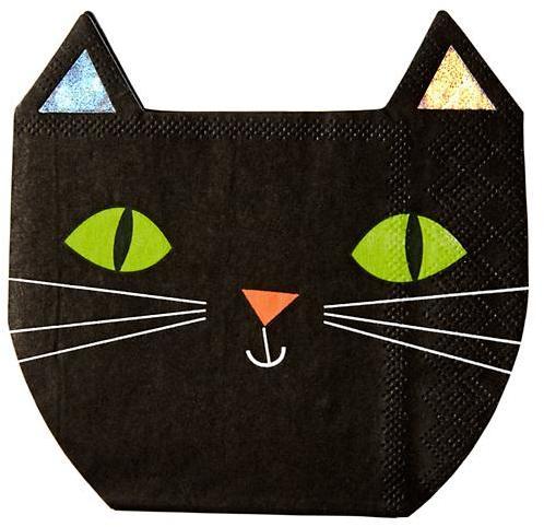 Halloween Cat Napkins (Set of 16)