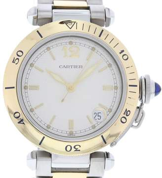 Cartier Pasha 1034 Yellow Gold & Stainless Steel White Dial Automatic 36mm Womens Watch