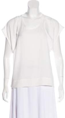 IRO Short Sleeve Chiffon Top