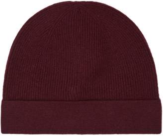 Reiss Hemsby - Cashmere Mix Beanie in Bordeaux