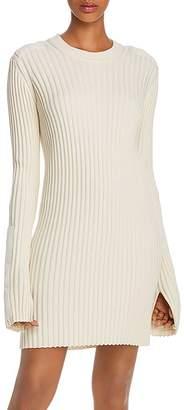 Helmut Lang Ribbed Knit Patch Dress