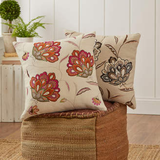 Birch Lane Odette Embroidered Felt Pillow Cover