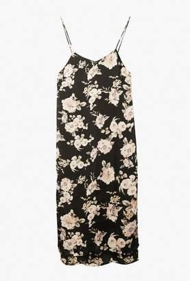 Azalea Satin Floral Midi Cami Dress