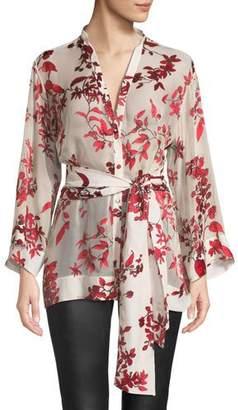 Alice + Olivia Rosario Tie-Waist Kimono Top