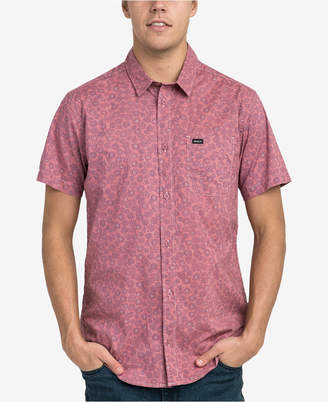 RVCA Men's Cleta Stipple Floral Pocket Shirt