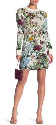 Paul & Joe Sister Coquette Knit Floral Sweater Dress