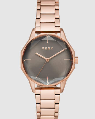 DKNY Round Cityspire Rose Gold-Tone Analogue Watch