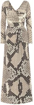 Roberto Cavalli Printed stretch jersey dress