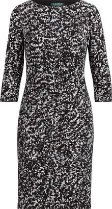 Ralph Lauren Print Stretch Jersey Dress