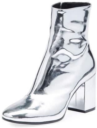 Balenciaga Metallic Leather Block-Heel Bootie