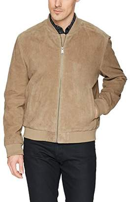 Cole Haan Men's Suede Leather Varsity Jacket