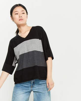 Cable & Gauge Striped Dolman Sweater