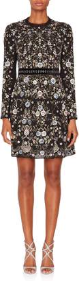 Needle & Thread Ella Embroidered Longsleeve Mini Dress