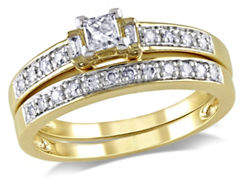 HBC CONCERTO 0.33CT Multi-Shape Diamond 14K Yellow Gold Bridal Set