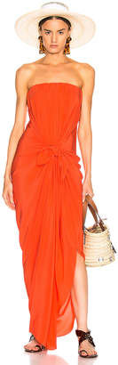 Silvia Tcherassi for FWRD Kokama Dress in Red Orange | FWRD