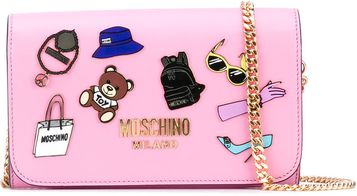 Moschino Moschino pin badge shoulder bag