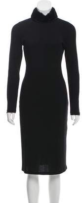 Blumarine Long Sleeve Midi Dress