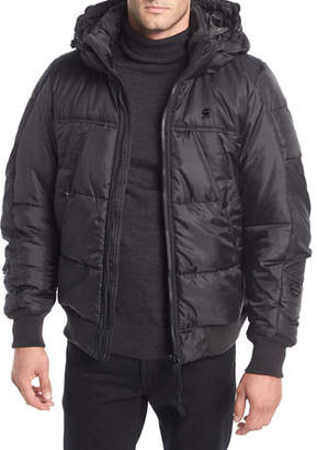 G Star G-Star Whistler Hooded Puffer Bomber Jacket