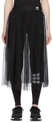 adidas Black Tulle Adicolor Sleek Skirt