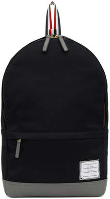 Thom Browne Navy Unstructured Backpack