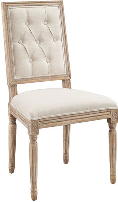 Linon Set Of 2 Liberty Linen Square Back Dining Chairs