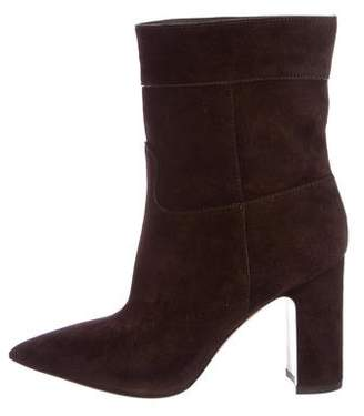 Valentino Pointed-Toe Suede Ankle Boots w/ Tags