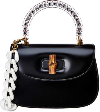 Gucci Bamboo Top Handle Leather Tote