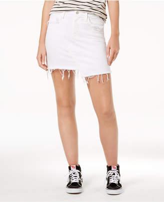 Flying Monkey Asymmetrical Cotton Denim Skirt