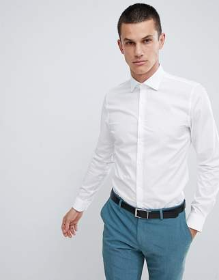Michael Kors slim fit smart shirt in stretch