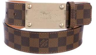 Louis Vuitton Damier Ebene Inventeur Belt