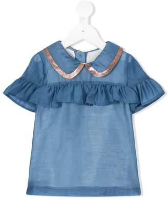 Hucklebones London ruffle blouse