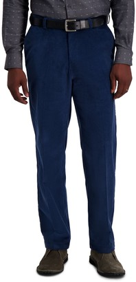 Haggar Men's Classic-Fit Stretch Expandable Waistband Corduroy Pants