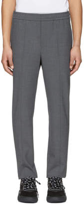 Neil Barrett Grey Wool Melange Trousers