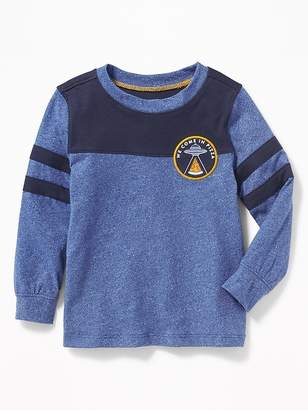Old Navy Graphic Pieced-Stripe Football Tee for Toddler Boys