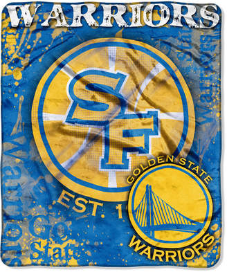 Northwest Company Golden State Warriors 50x60in Plush Throw Drop Down