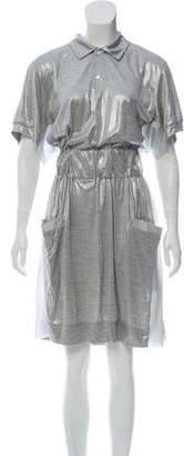 Sacai Metallic Silk Dress w/ Tags