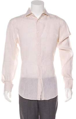 Brunello Cucinelli Linen Button-Up Shirt