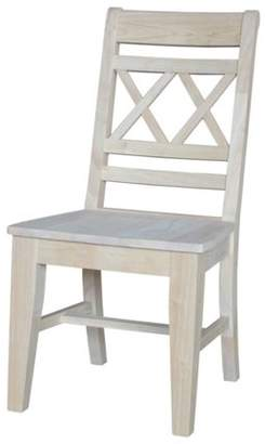INC International Concepts Canyon Double X-Back Chair, Unfinished