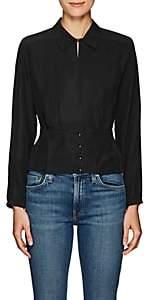 J Brand Women's Lindsey Silk Blouse - Black
