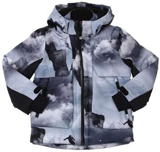Molo Clouds Print Nylon Ski Jacket