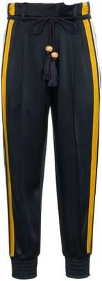 Peter Pilotto high waist striped cady satin trousers