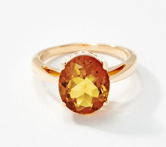 Madeira Citrine Solitaire Ring, 3.35 cttw, 14K Gold