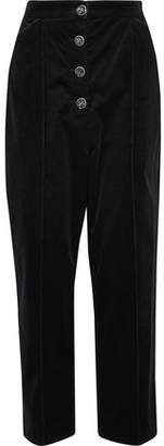 Temperley London Papillon Stretch Cotton-Corduroy Tapered Pants