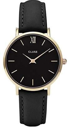 Cluse Women's Minuit 33mm Leather Band Metal Case Quartz Watch CL30004